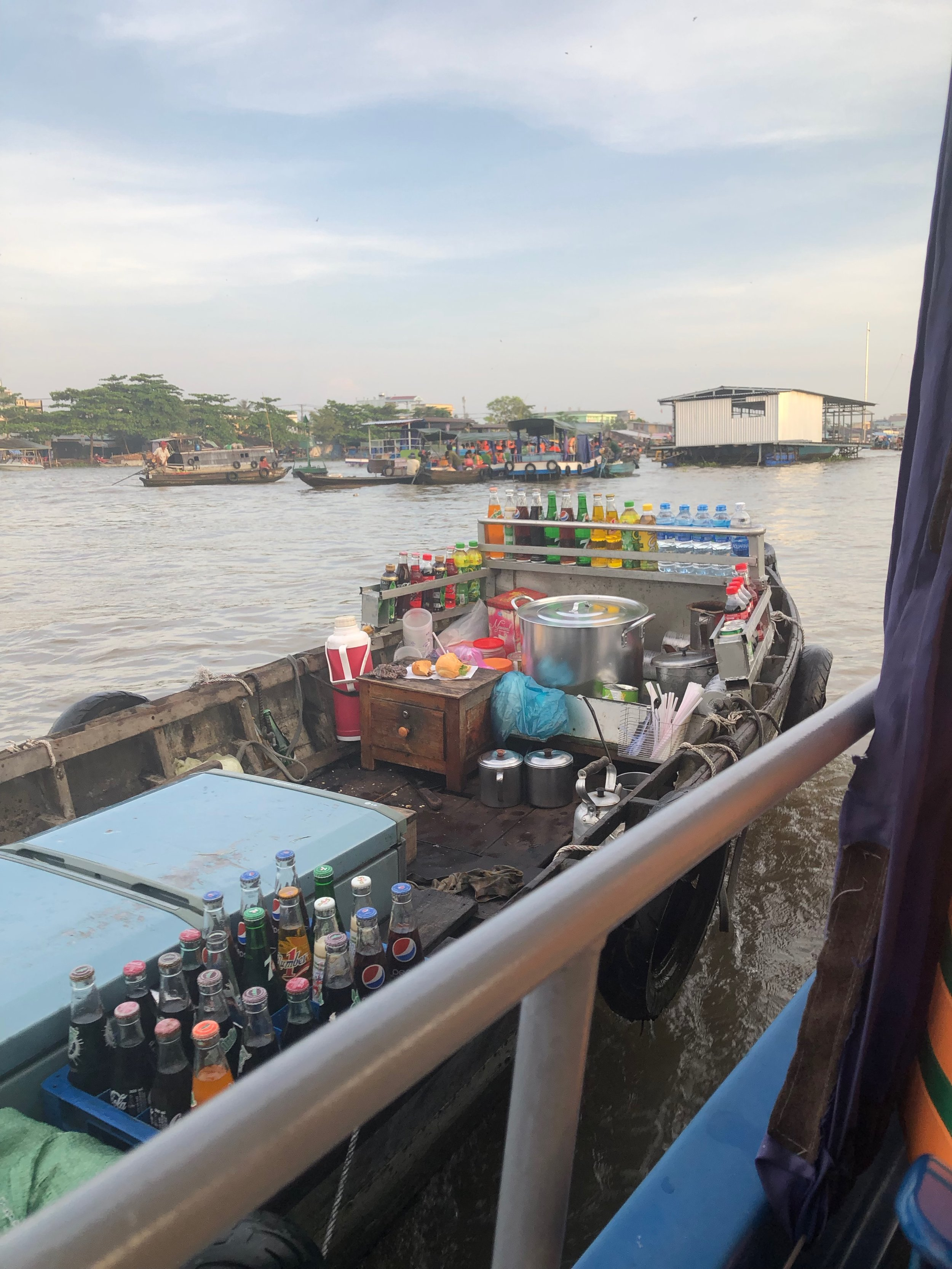On our way to Cai Rang floating market