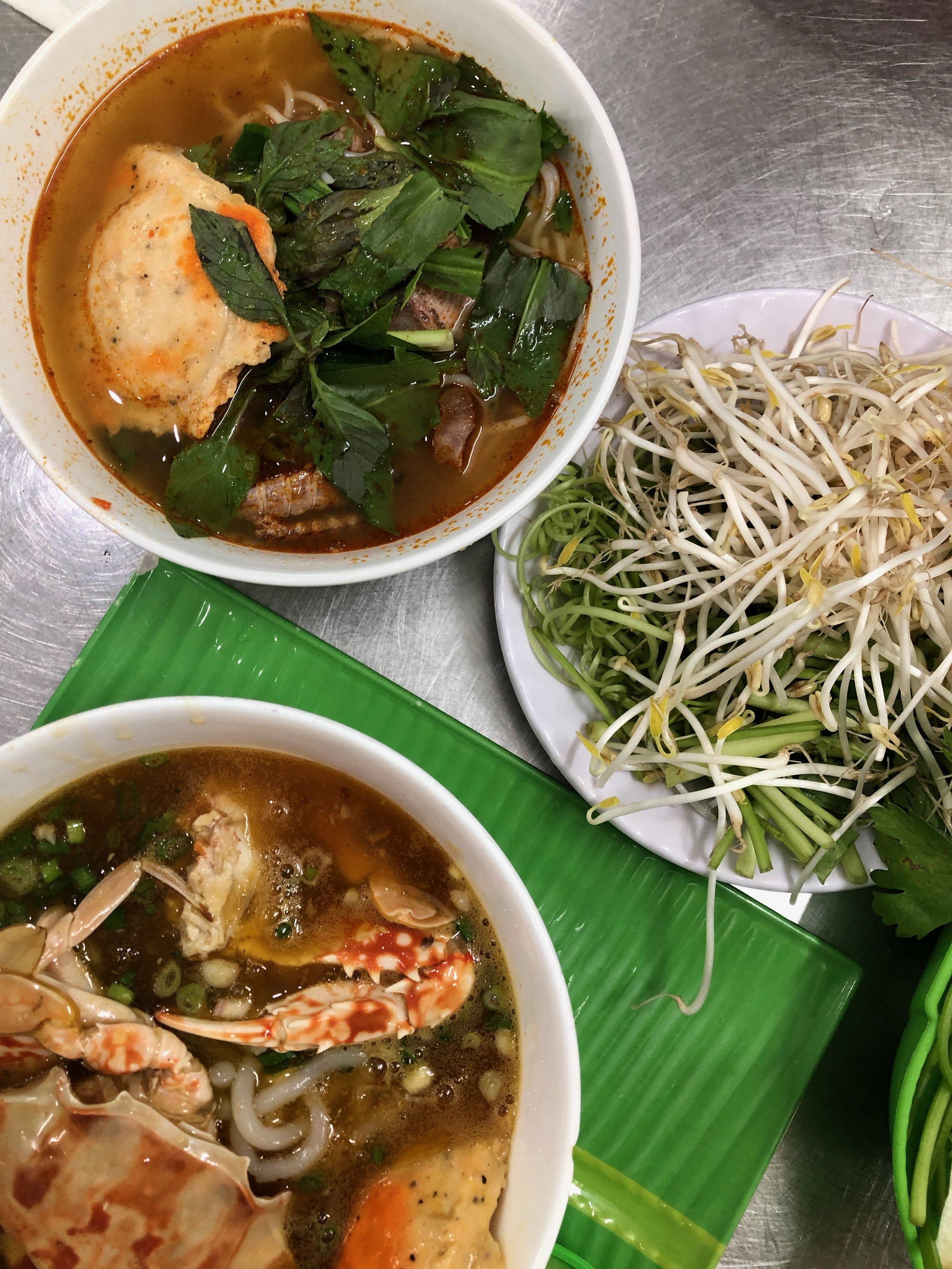 Bun thai and Banh canh ghe