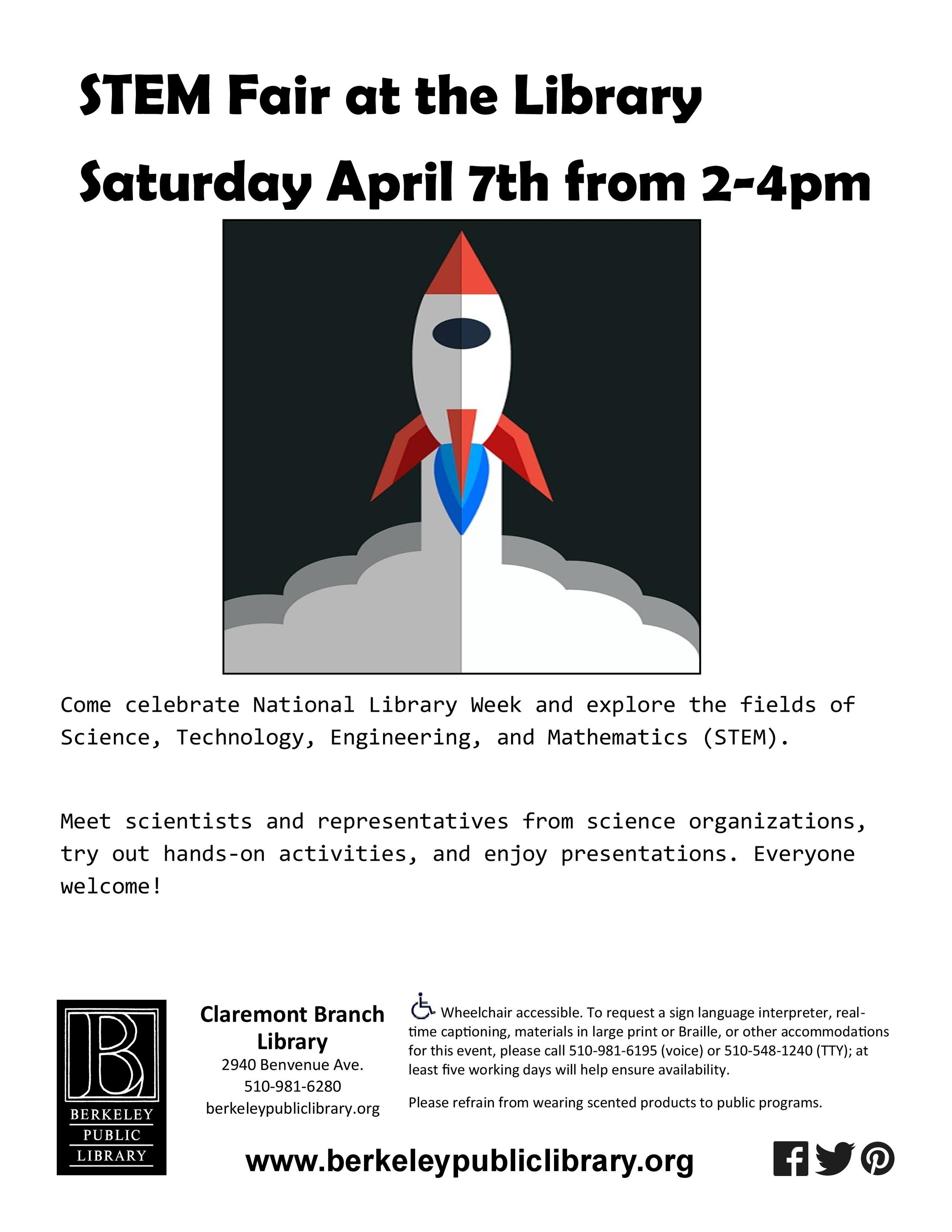 Click this event to plan your trip to                       the STEM Fair in Berkeley!