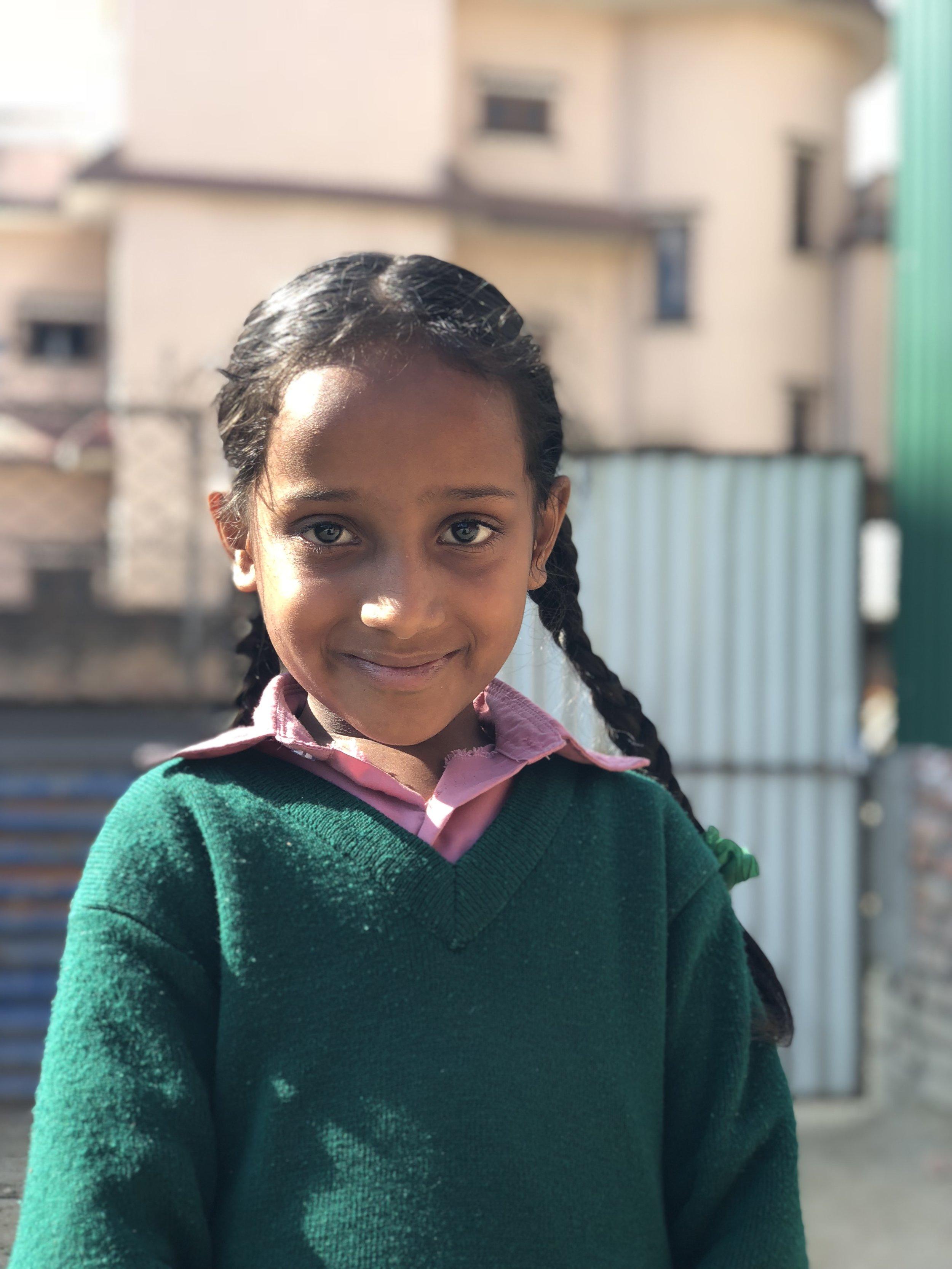 Kripa  Age 8  She wants to become a doctor