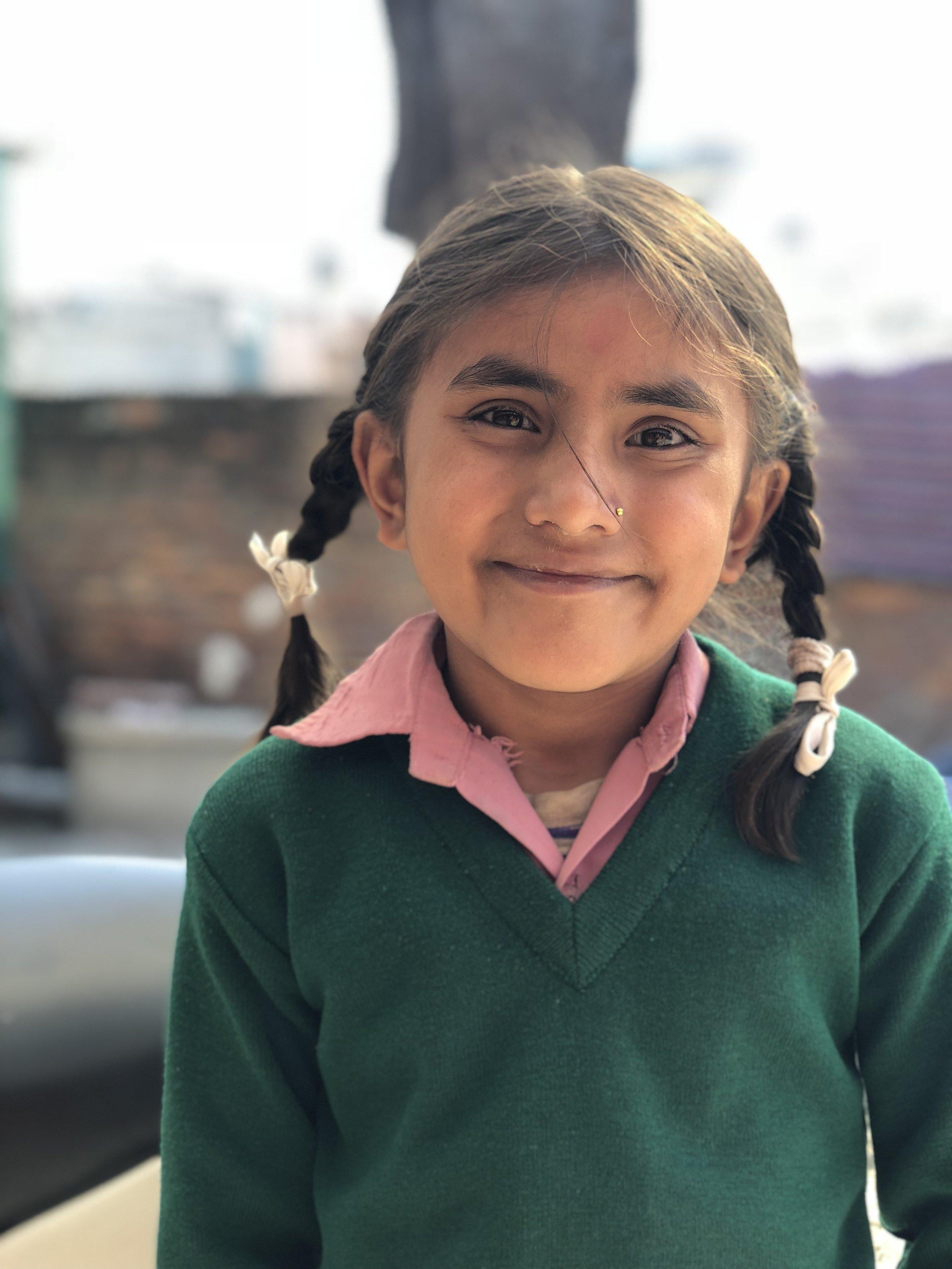 Anjita  Age 8  She wants to become an engineer