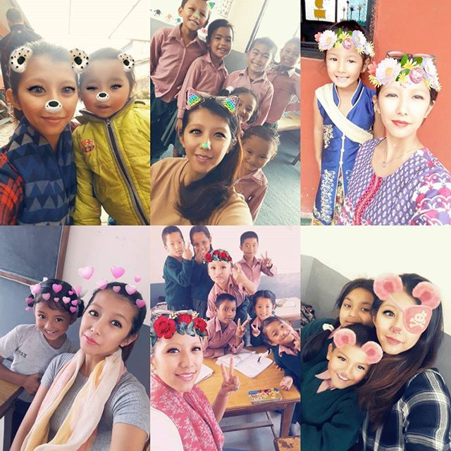 #Snapchat Filter with the kids of EDUC-Nepal They are so amazing 😊🤗😃 P.S: They love to take the pictures specially more with these filters