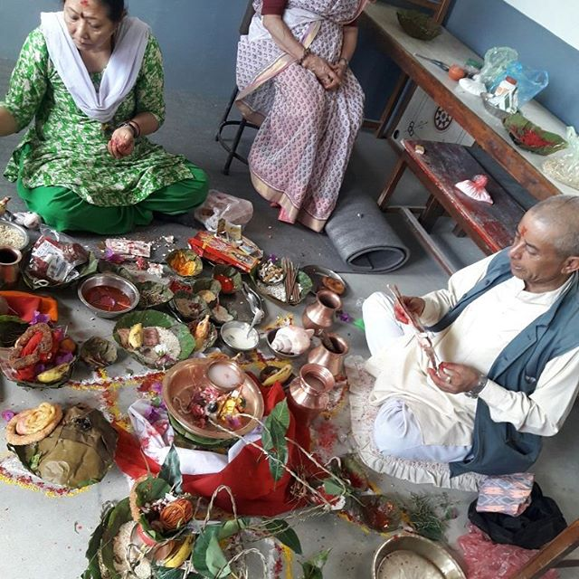 #We had a Puja in our new building today, which is done in almost every new building so that it will be blessed with positive energy  and may God shower his blessing upon us and may we get more courage to do the things that we are doing for the kids. A big Thank you to all the people who are supporting us and are part of EDUC Nepal.