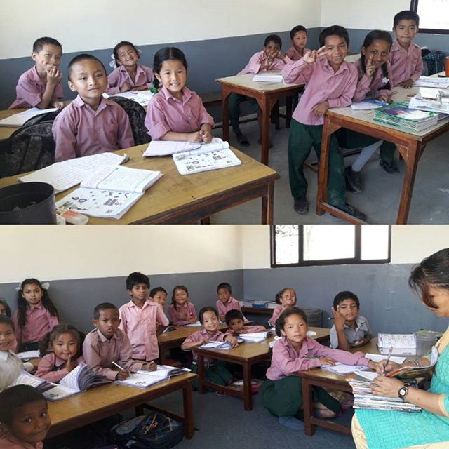 #Happy in their New class, shifting into our new building slowly Thank you to everyone who has been helping us to make our own building where our Children can study and get their education