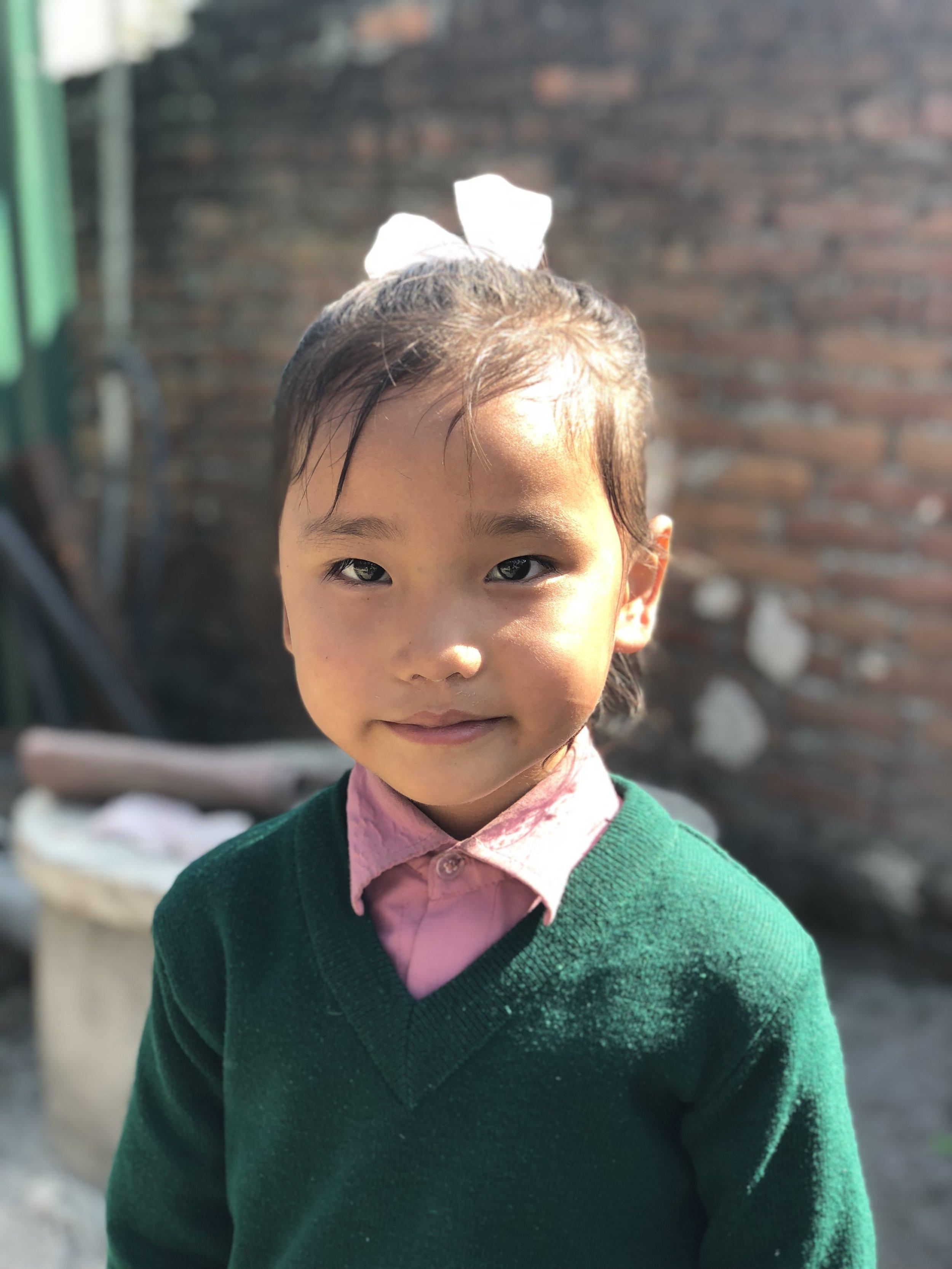 Prerana  Age 6  She wants to become a nurse