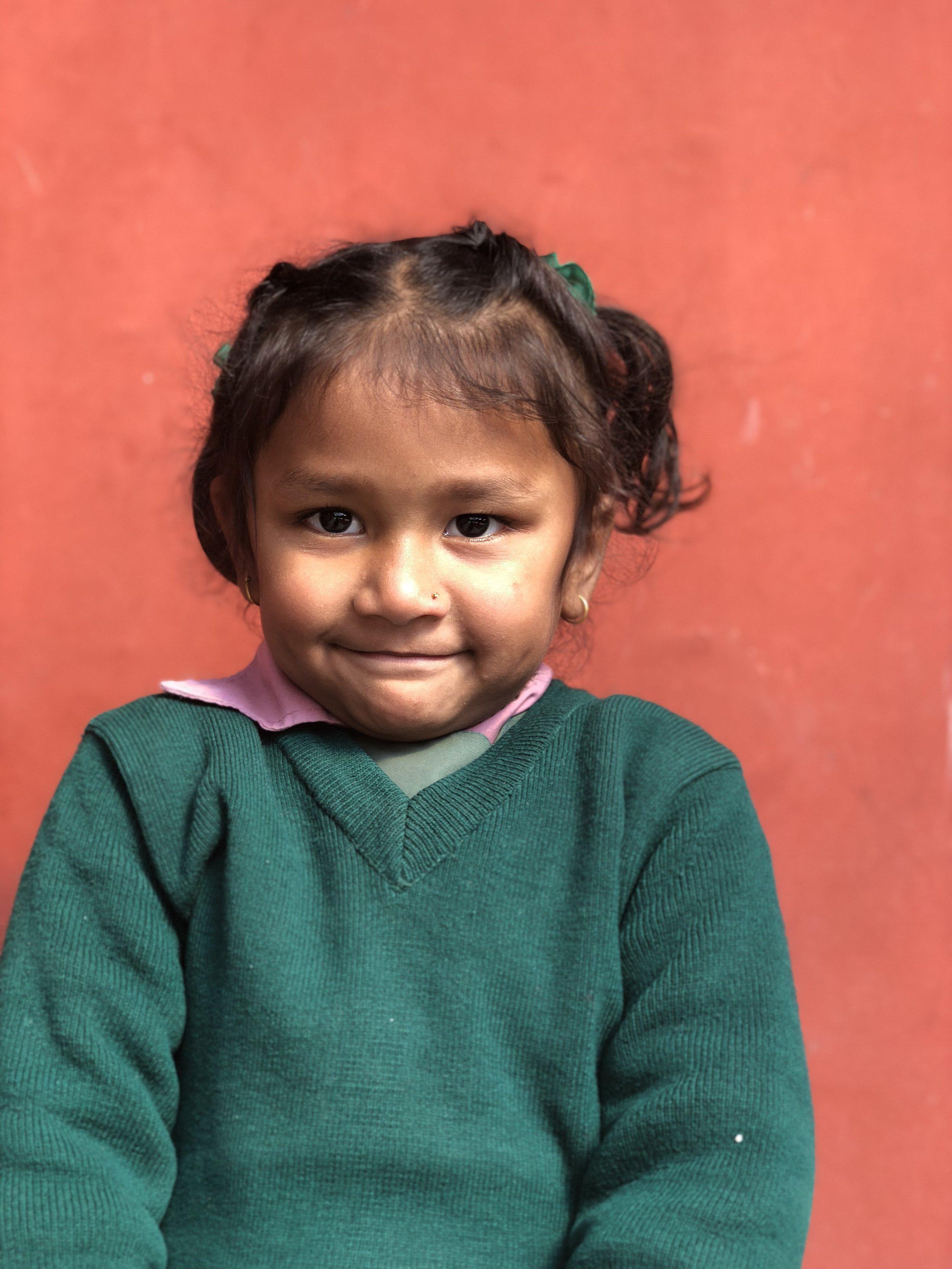 Rashmita  Age 4  She likes to eat guava