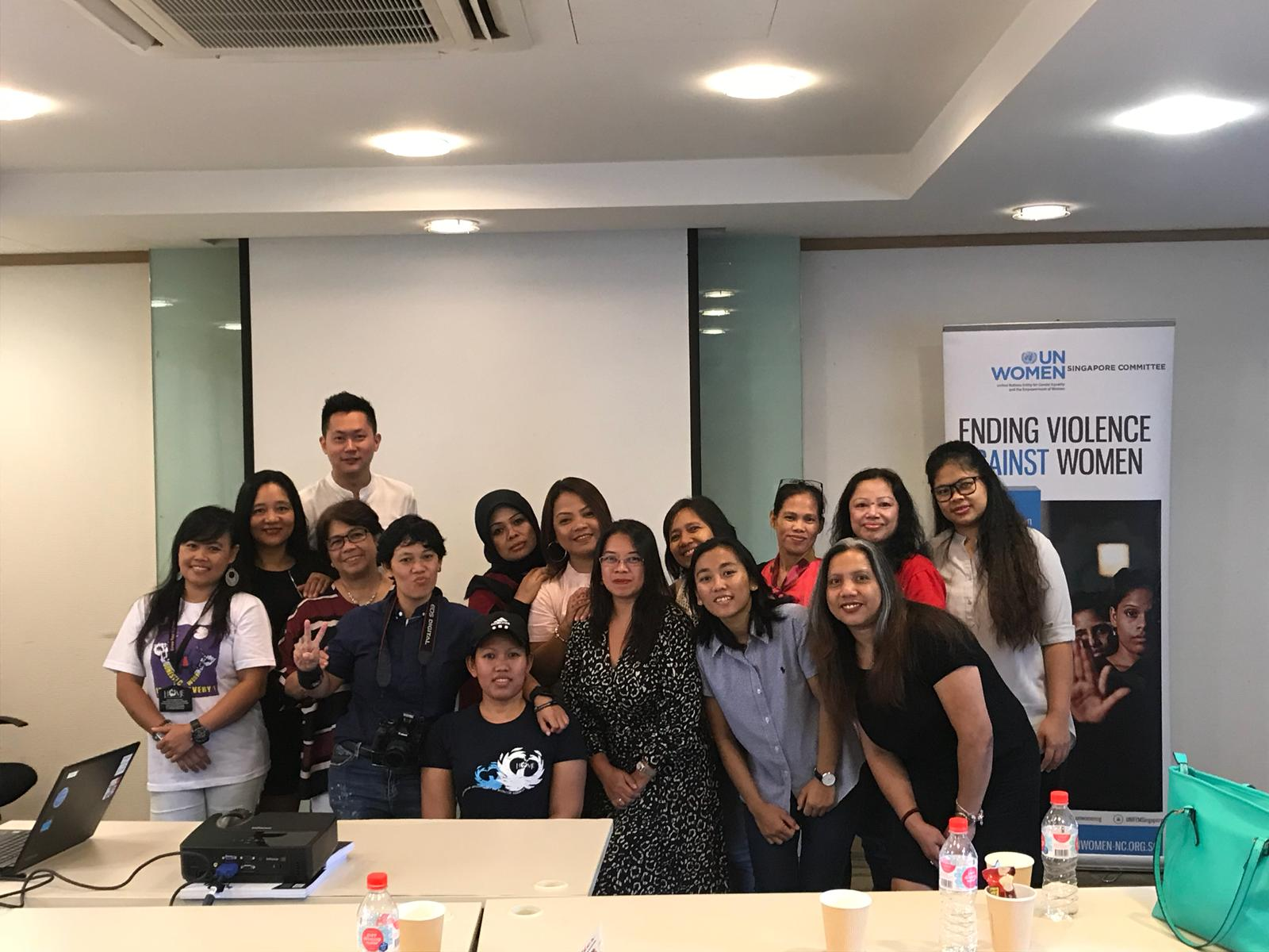 A legal workshop for domestic workers organized by UN Women Singapore and Eden Law Corporation