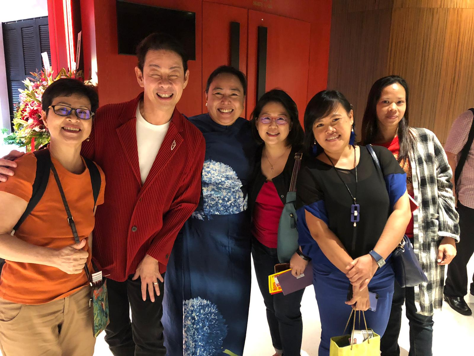 All smiles with the Founding Artistic Director of Wild Rice, Ivan Heng.