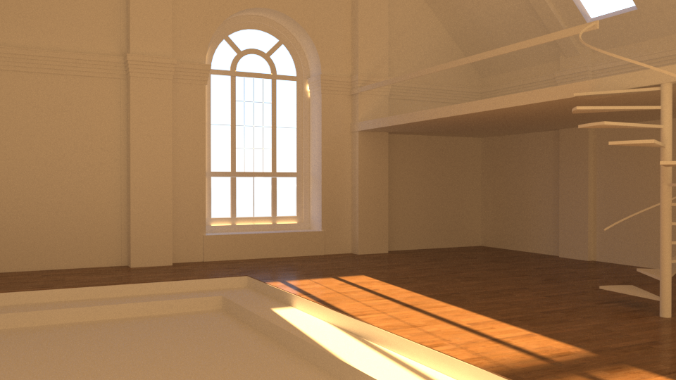 First stages of blocking out the interior space using actual measurements of existing spaces as a guide.