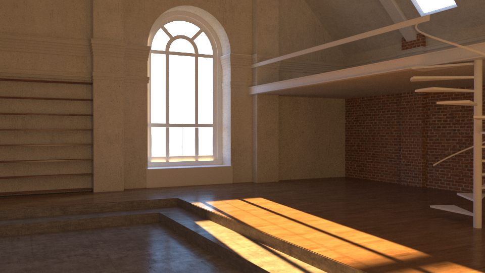 Building up the scene still, adding a few (likely temporary) textures as I go in order to test and tinker with the overall lighting.