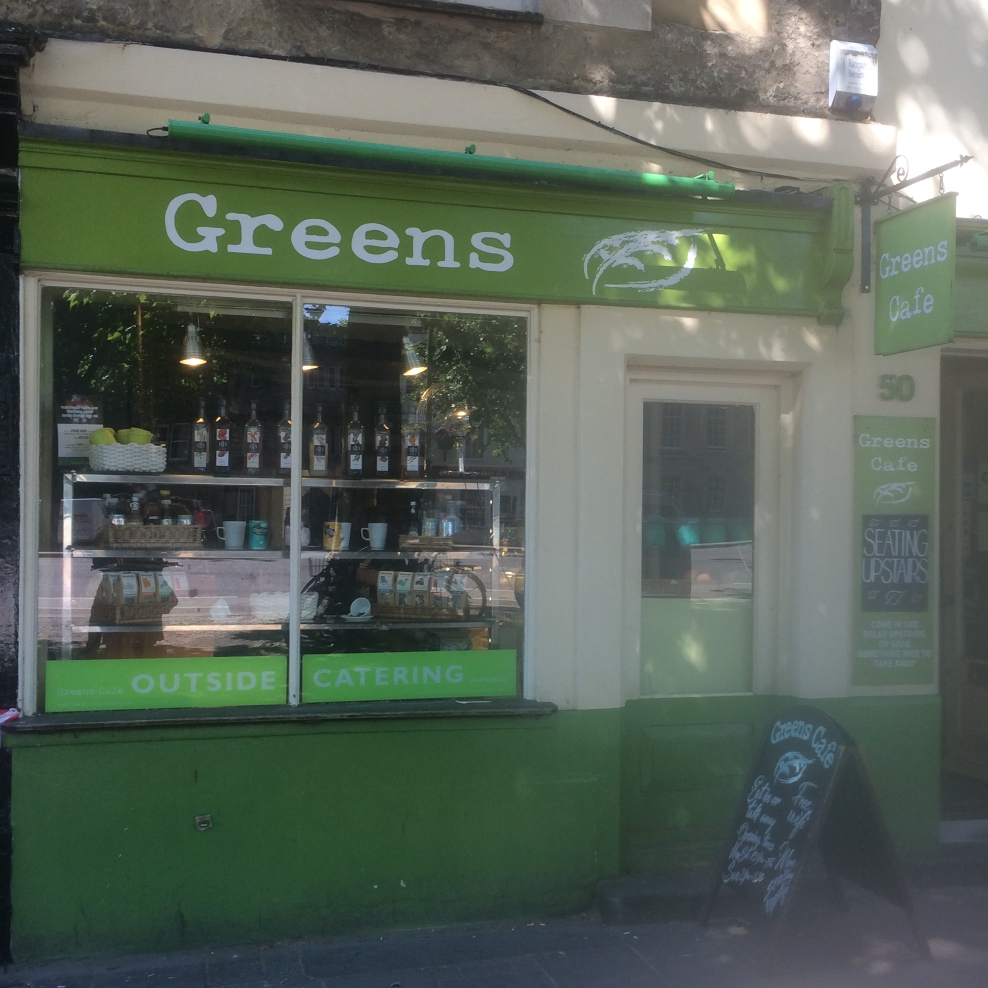 Greens Cafe - A local coffee and sandwich chop on St Giles, Greens Cafe is one to remember. It lives up to its name: you can refill here and buy fair-trade products.50 St Giles', OX1 3LUwww.greenscafe.co.uk