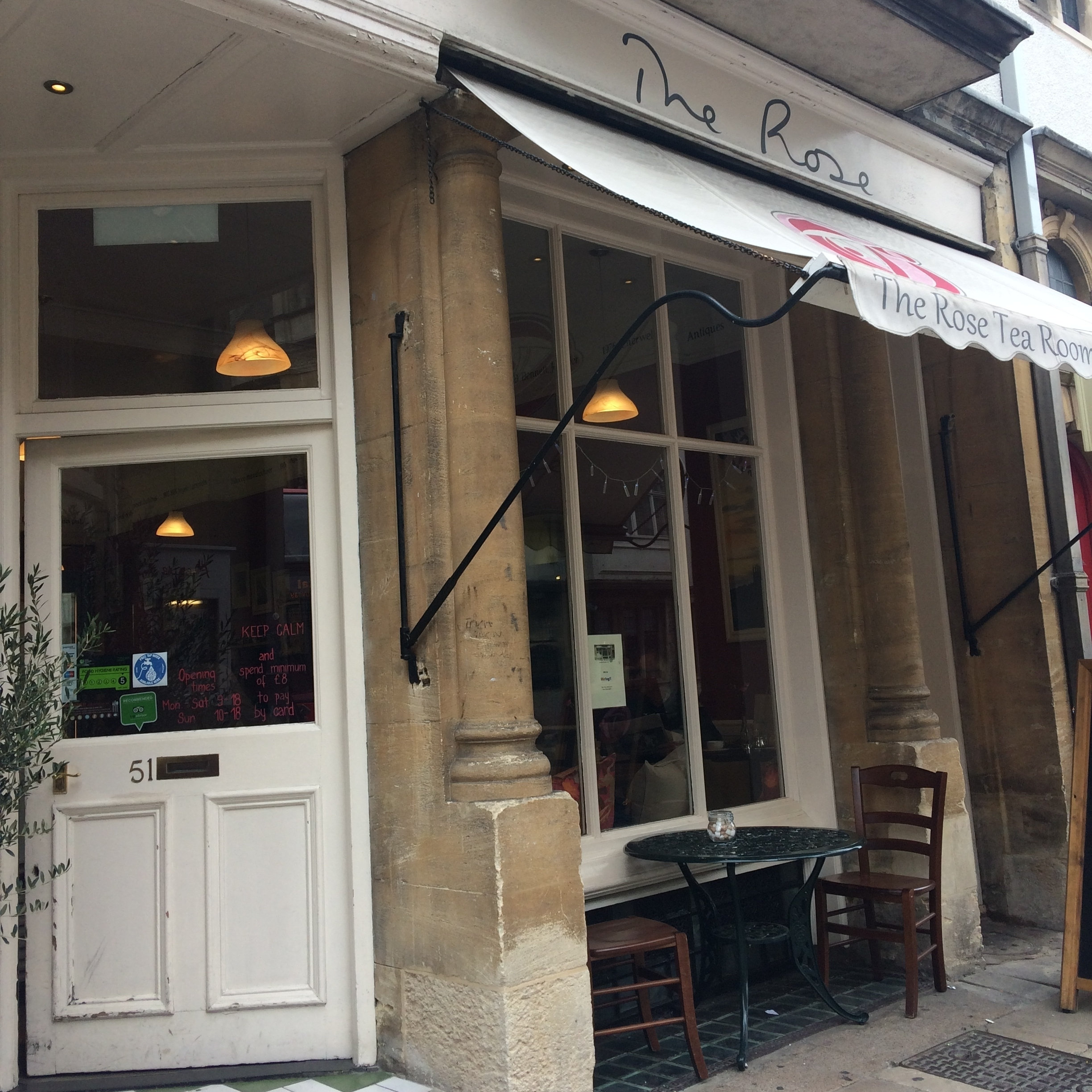 The Rose - This historic Oxford tea room is right in the heart of the city. You can get a full English breakfast here, lunch as well as a traditional tea and scones.51 Hight Street, OX1 4ASthe-rose.biz