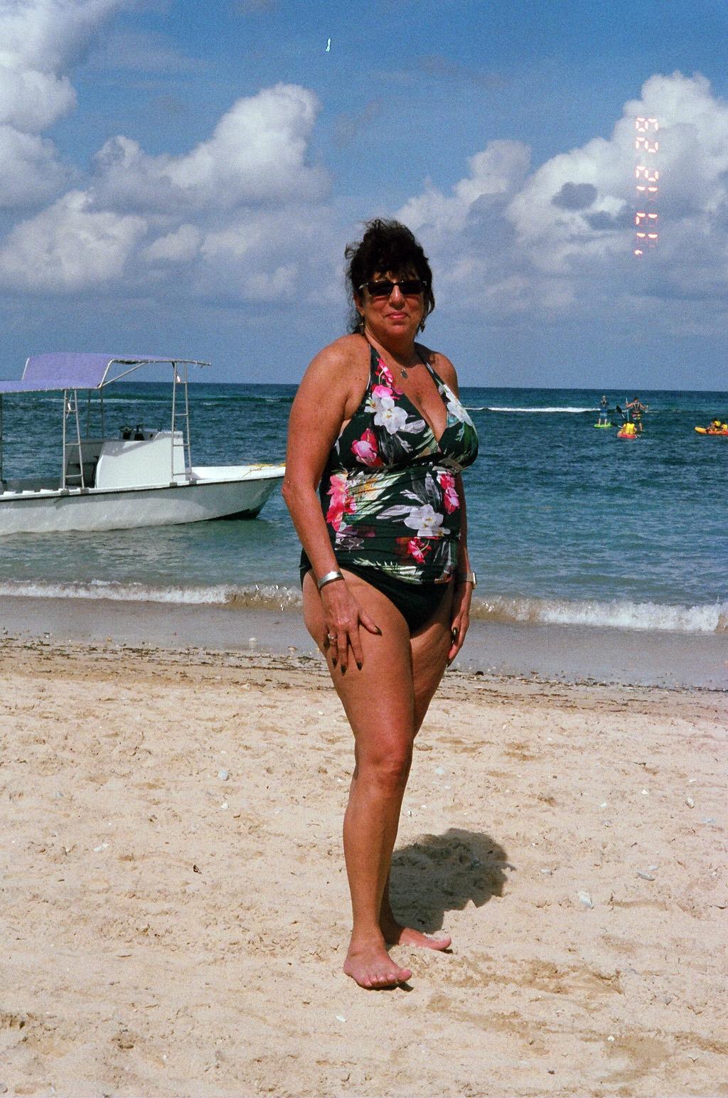 My Mother on Jamaica Coastline