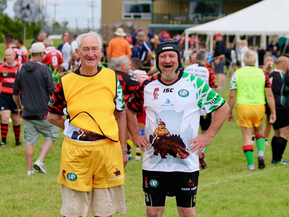 Len Johnson (left) and son Craig (right)