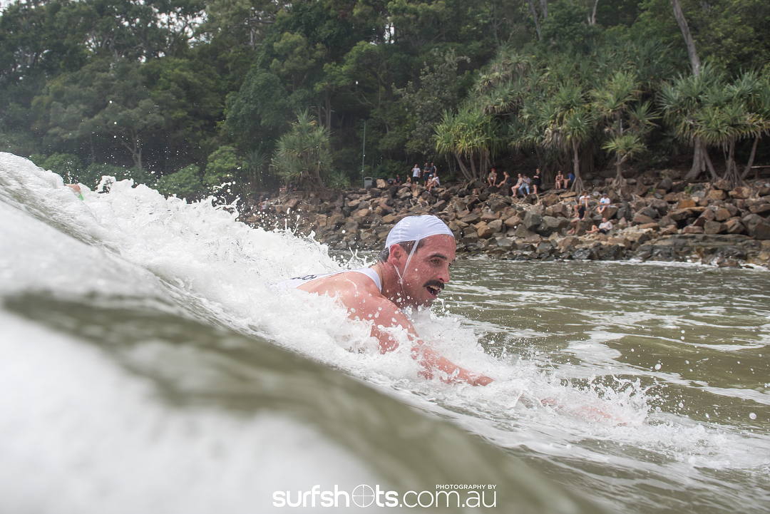 Bodysurfer - Champion Dave Ford. Photographer -  Surfshots.com.au