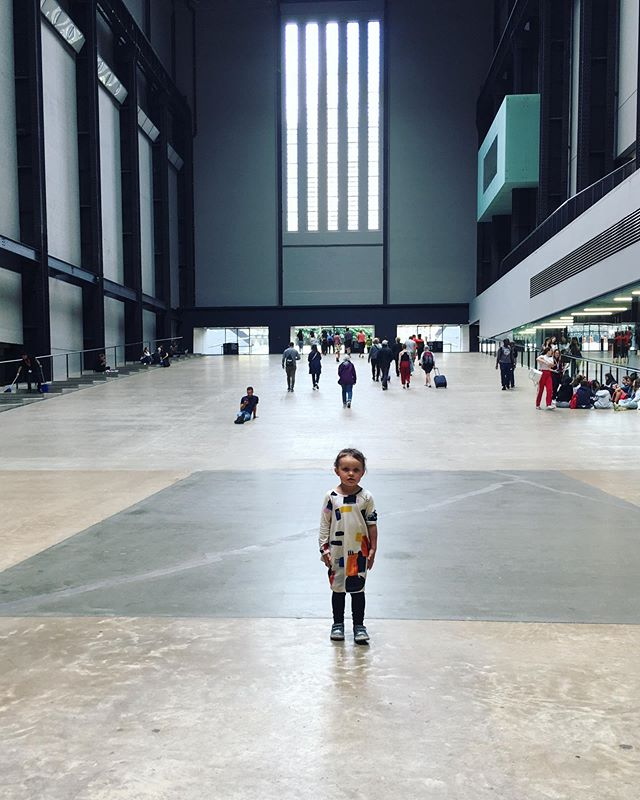 My little explorer in a big world #tatemodern #olafureliasson #socurious