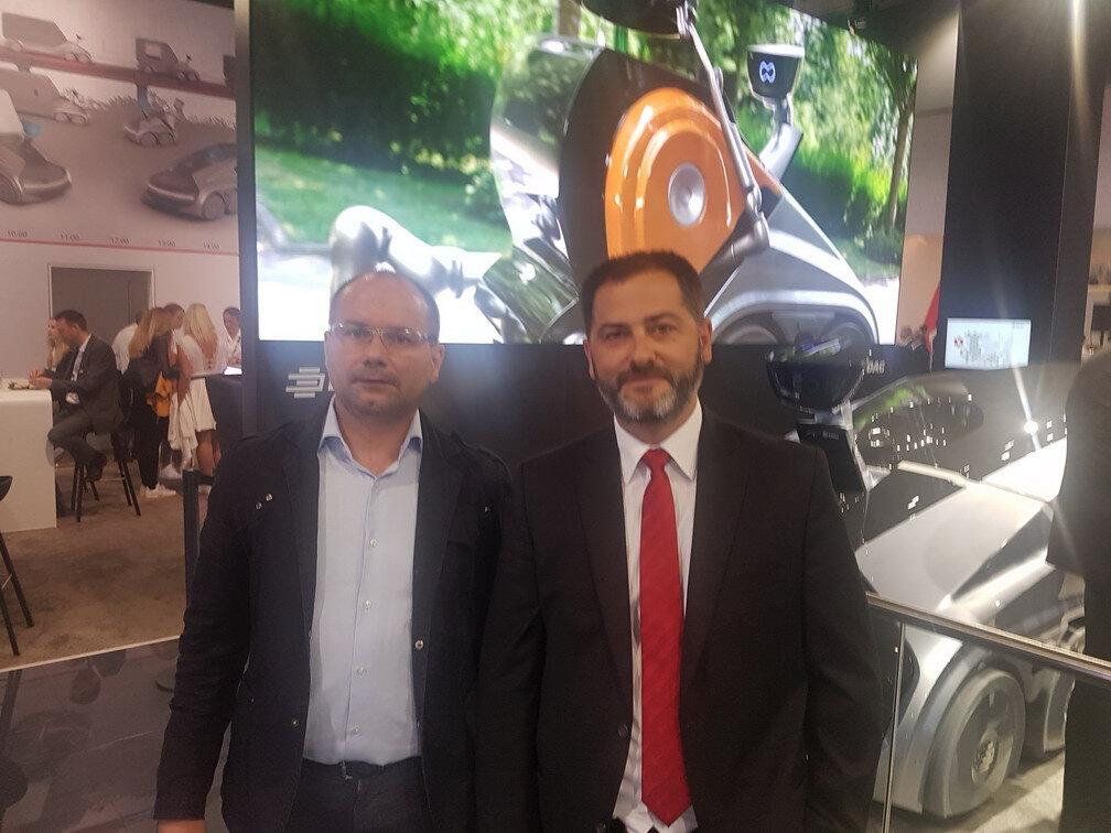Left: Miroslav Tesic, Business Development Manager, Magment GmbH  Right: Javier Rodiguez, Managing Director, EDAG UK