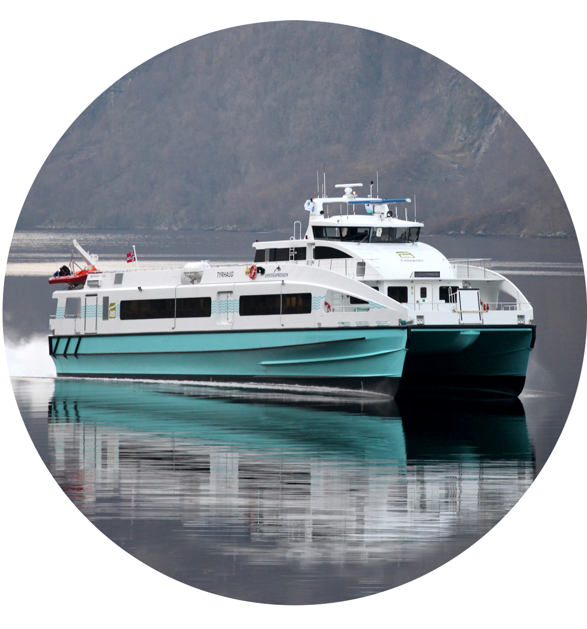 Delivered in 2014, M/S Terningen lowered fuel consumption by 40% when it replaced the aluminium vessel
