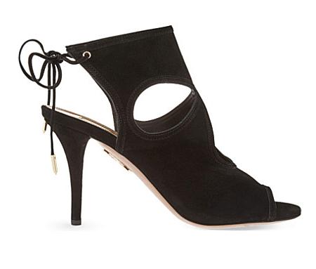 Black Aquazurra heels