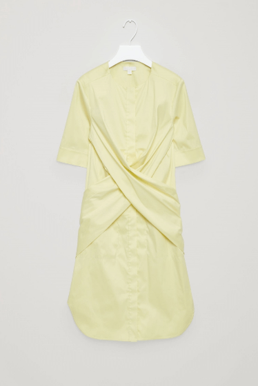 pale yellow shirt dress
