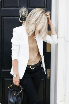 white blazer work look