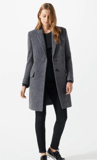 Navy tweed coat