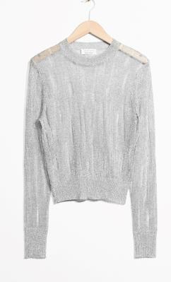 Silver lurex jumper