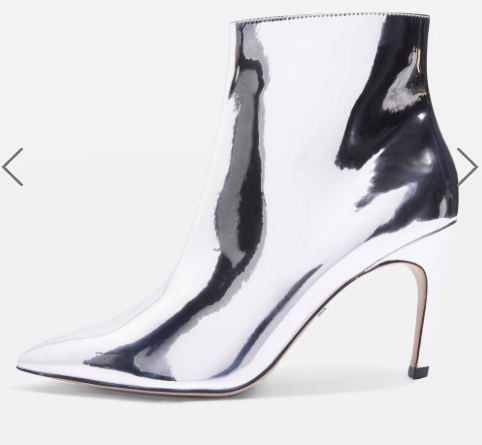 Silver heeled boots