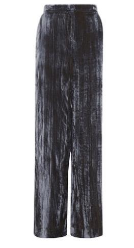Velvet wide legged trousers