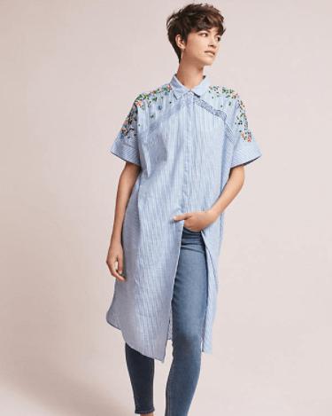 Neysa embroidered shirt dress