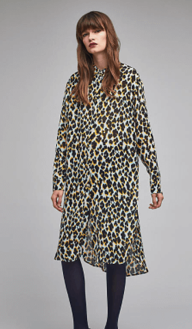 Vendra leopard print shirt dress