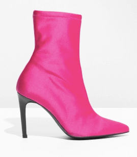 Pink neon sock boots