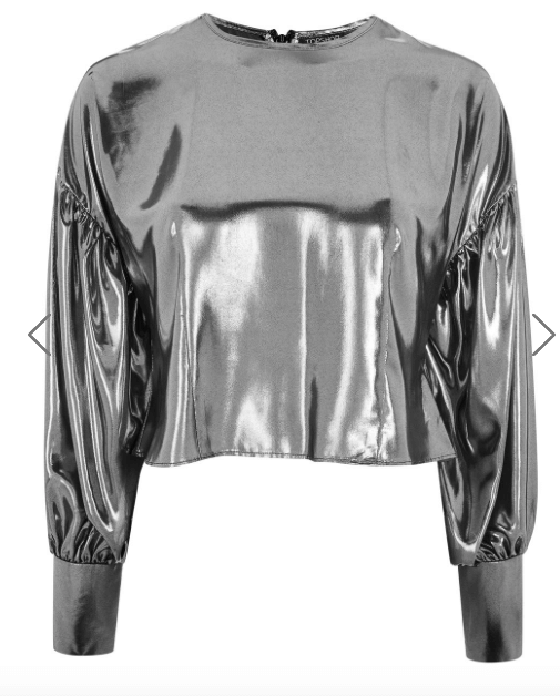 Silver lame top
