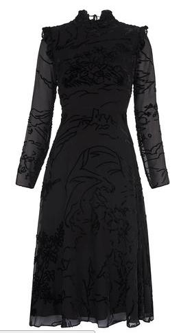 Whistles velvet dress