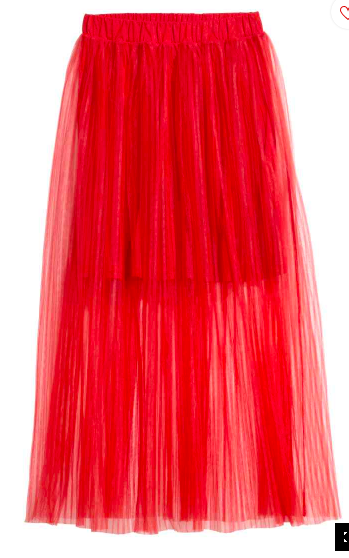 Red pleated tulle skirt.png