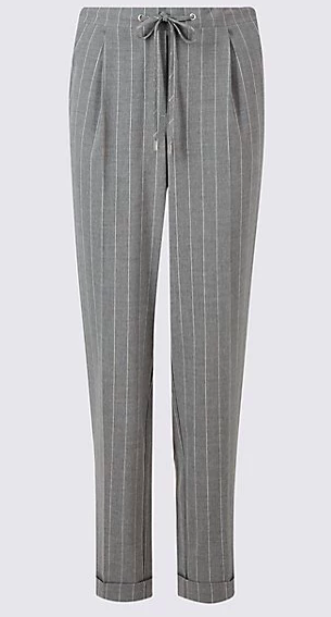 M&S Tapered pin stripe trousers