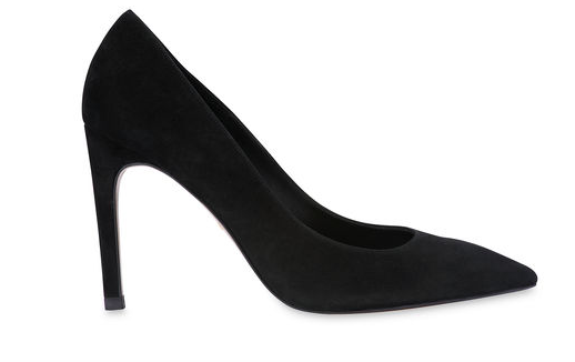 Whistles black suede court shoes