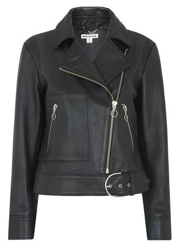 Black leather biker | Jigsaw