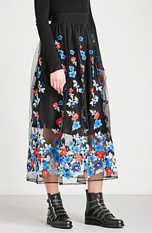 Maje Tulle skirt in sale | Selfridges