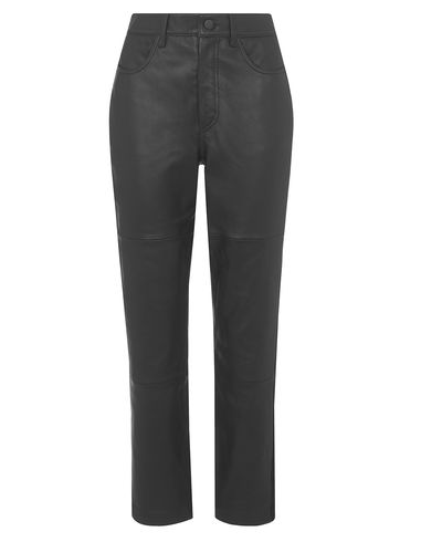 Smart leather trousers