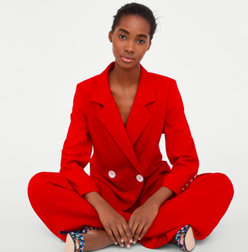 Red suit |Zara