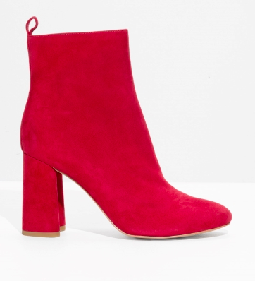 red suede boots | &other stories