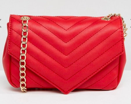 Red gold chain bag |ASOS