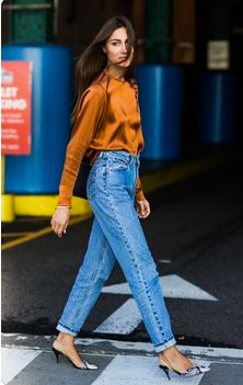 Jeans and silk look.png