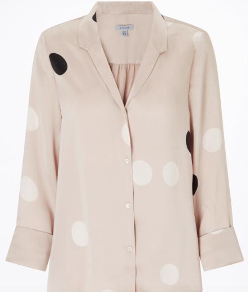 Oversized spot silk blouse | Jigsaw