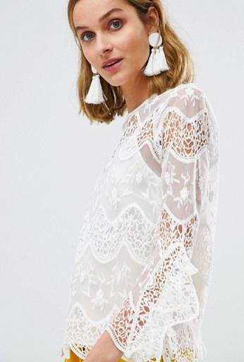 Lace blouse | River Island