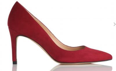 LK Bennett suede court shoes
