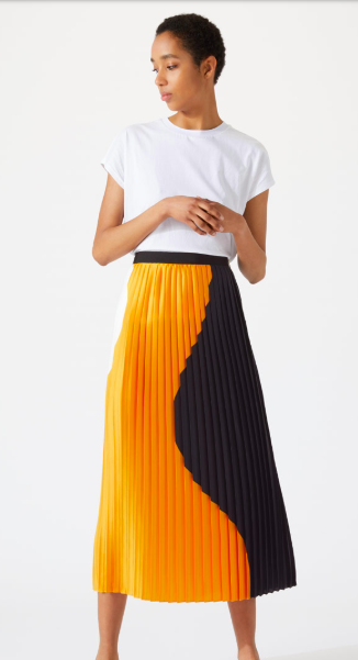 Jigsaw block circle skirt