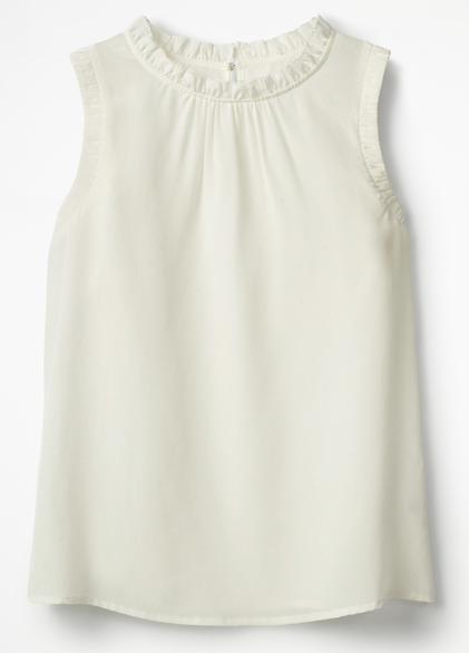 Boden sleeveless cream silk top