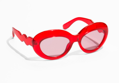 Red squiggle sunglasses - &Other Stories